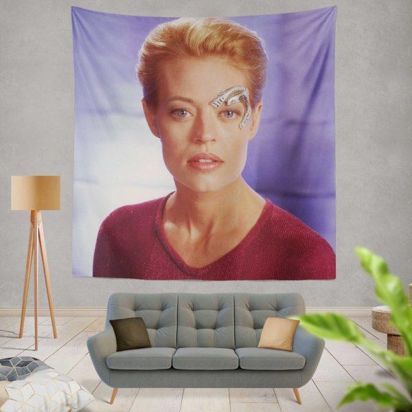 Jeri Ryan in Star Trek Voyager TV Show Wall Hanging Tapestry
