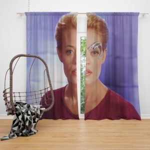 Jeri Ryan in Star Trek Voyager TV Show Window Curtain