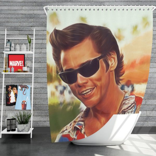 Jim Carrey in Ace Ventura Pet Detective Movie Shower Curtain