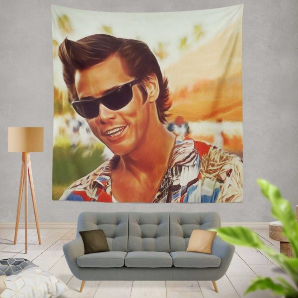 Jim Carrey in Ace Ventura Pet Detective Movie Wall Hanging Tapestry