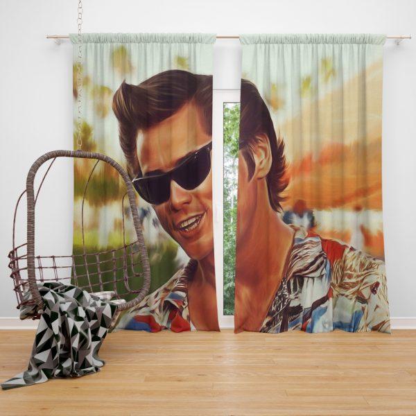 Jim Carrey in Ace Ventura Pet Detective Movie Window Curtain