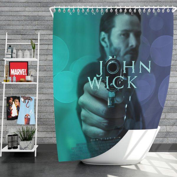 John Wick 2014 Movie Keanu Reeves Shower Curtain