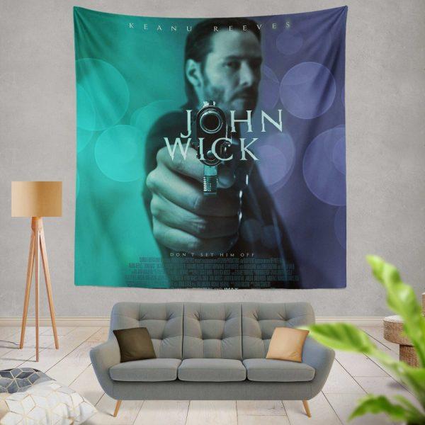 John Wick 2014 Movie Keanu Reeves Wall Hanging Tapestry