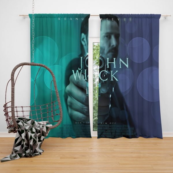 John Wick 2014 Movie Keanu Reeves Window Curtain