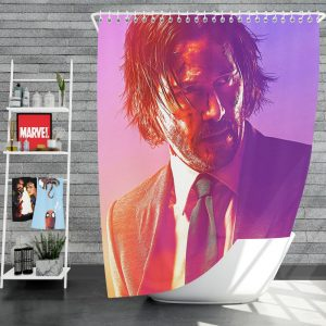 John Wick 3 Parabellum Movie Keanu Reeves Shower Curtain