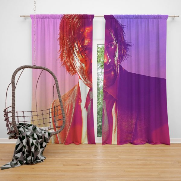 John Wick 3 Parabellum Movie Keanu Reeves Window Curtain