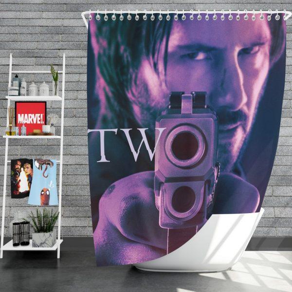 John Wick Chapter 2 Movie John Wick Keanu Reeves Shower Curtain