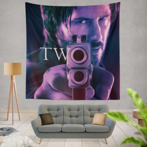 John Wick Chapter 2 Movie John Wick Keanu Reeves Wall Hanging Tapestry