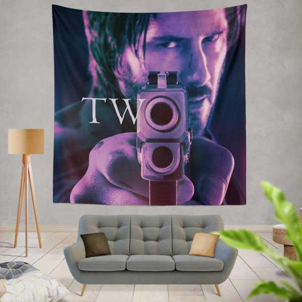 John Wick Chapter 2 Movie John Wick Keanu Reeves Wall Hanging Tapestry
