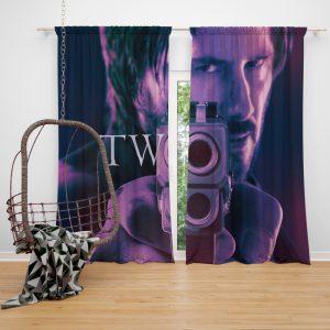 John Wick Chapter 2 Movie John Wick Keanu Reeves Window Curtain