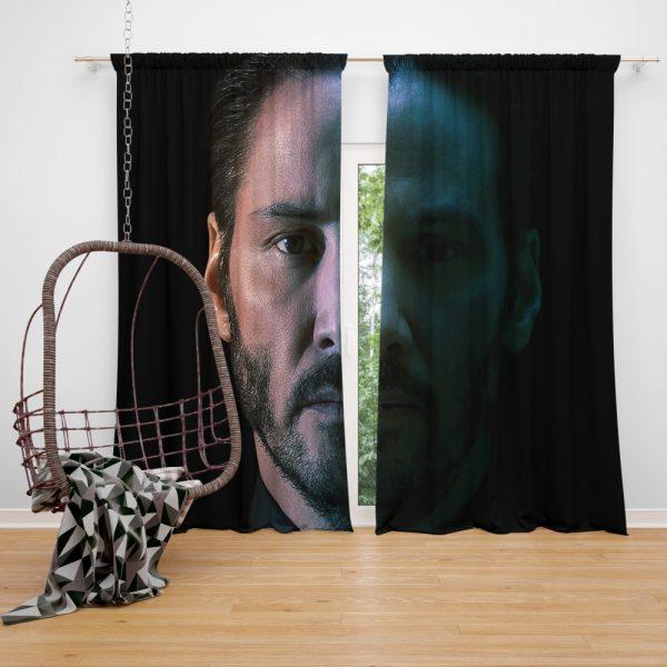 John Wick Chapter 3 Movie Keanu Reeves Window Curtain