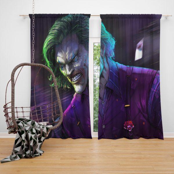 Joker Movie DC Comics Window Curtain