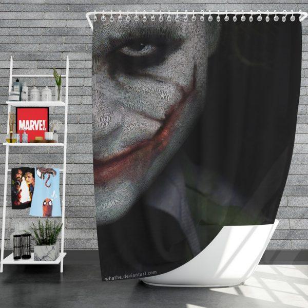 Joker in The Dark Knight Batman Movie Shower Curtain