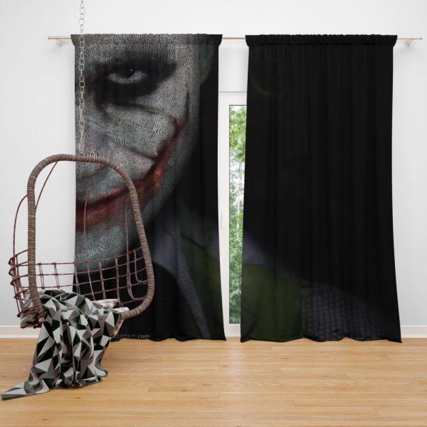 Joker in The Dark Knight Batman Movie Window Curtain