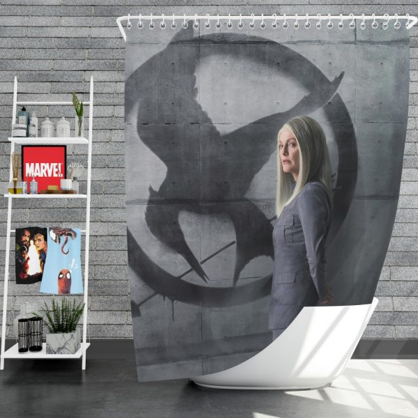 Julianne Moore in The Hunger Games Mockingjay Part 2 Movie Shower Curtain