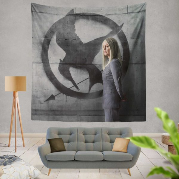 Julianne Moore in The Hunger Games Mockingjay Part 2 Movie Wall Hanging Tapestry