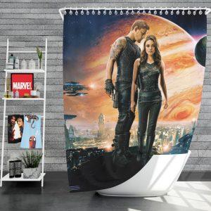 Jupiter Ascending Movie Mila Kunis Channing Tatum Shower Curtain