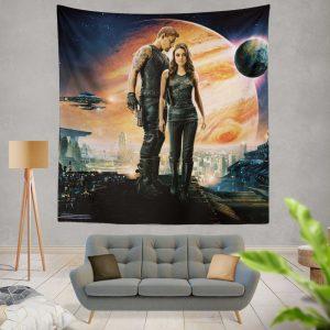 Jupiter Ascending Movie Mila Kunis Channing Tatum Wall Hanging Tapestry
