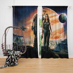 Jupiter Ascending Movie Mila Kunis Channing Tatum Window Curtain