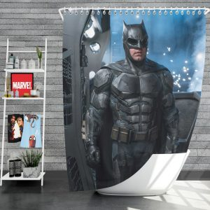 Justice League 2017 Movie Batman Ben Affleck Bruce Wayne Shower Curtain