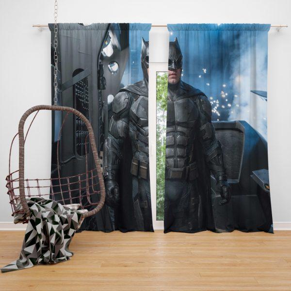Justice League 2017 Movie Batman Ben Affleck Bruce Wayne Window Curtain