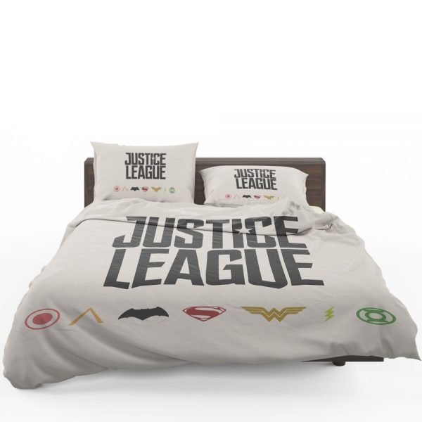 Justice League 2017 Movie DC Comics Logo Bedding Set 1