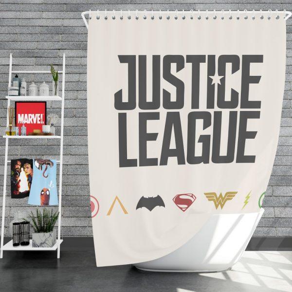 Justice League 2017 Movie DC Comics Logo Shower Curtain