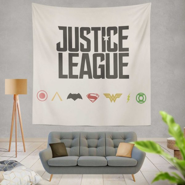 Justice League 2017 Movie DC Comics Logo Wall Hanging Tapestry
