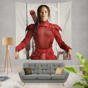 Katniss Everdeen Jennifer Lawrence in The Hunger Games Mockingjay Part 2 Movie Wall Hanging Tapestry