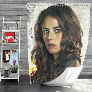 Kaya Scodelario in Maze Runner The Scorch Trials Movie Shower Curtain