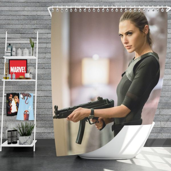 Keeping Up with the Joneses Movie Gal Gadot Shower Curtain
