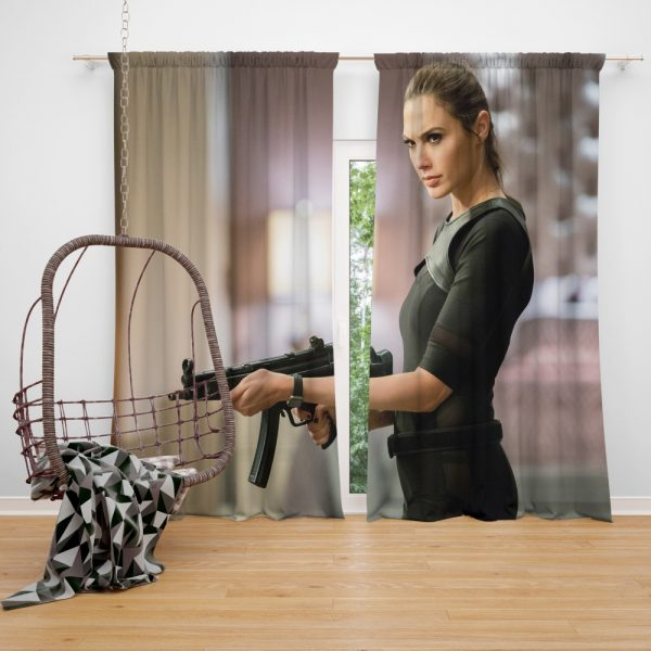 Keeping Up with the Joneses Movie Gal Gadot Window Curtain