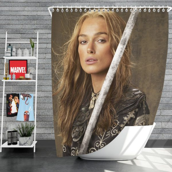 Keira Knightley Elizabeth Swann in Pirates Of The Caribbean At Worlds End Movie Shower Curtain