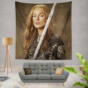 Keira Knightley Elizabeth Swann in Pirates Of The Caribbean At Worlds End Movie Wall Hanging Tapestry