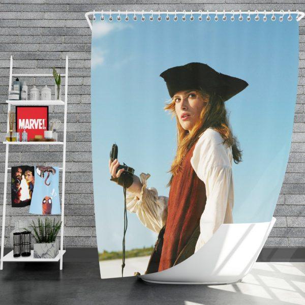 Keira Knightley Elizabeth Swann in Pirates Of The Caribbean Dead Man's Chest Shower Curtain