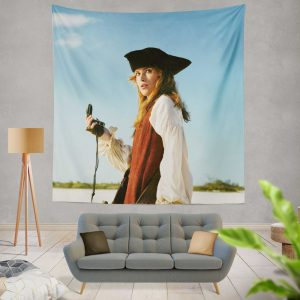 Keira Knightley Elizabeth Swann in Pirates Of The Caribbean Dead Man's Chest Wall Hanging Tapestry