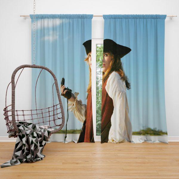 Keira Knightley Elizabeth Swann in Pirates Of The Caribbean Dead Man's Chest Window Curtain