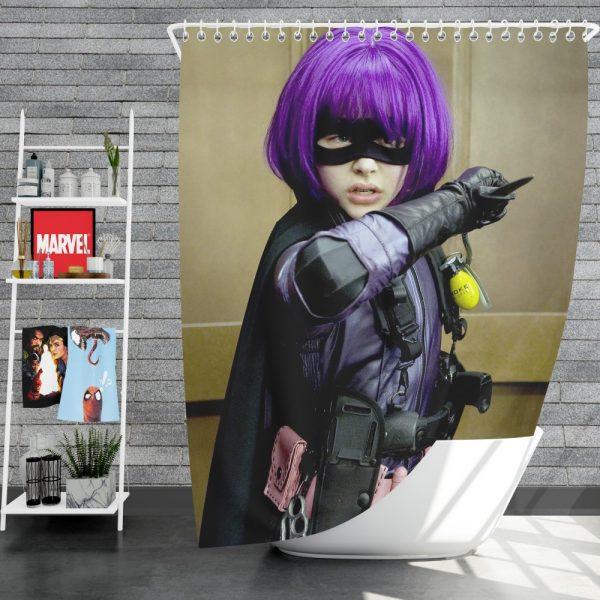 Kick-Ass Movie Chloe Grace Moretz Hit-Girl Thriller Shower Curtain