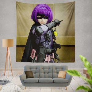 Kick-Ass Movie Chloe Grace Moretz Hit-Girl Thriller Wall Hanging Tapestry