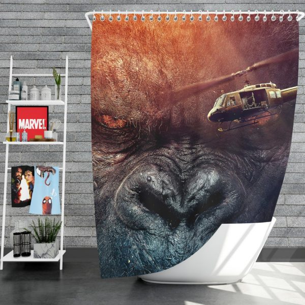 Kong Skull Island Movie Fantasy Shower Curtain