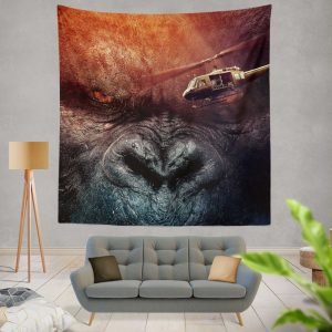 Kong Skull Island Movie Fantasy Wall Hanging Tapestry