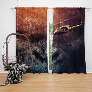 Kong Skull Island Movie Fantasy Window Curtain