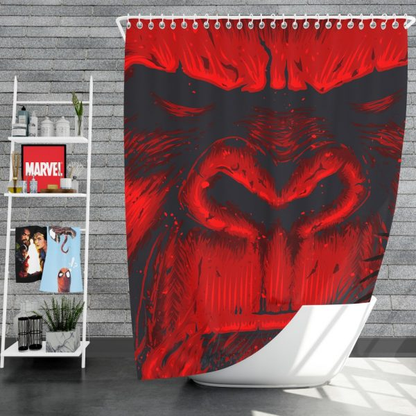 Kong Skull Island Movie Sci-fi Shower Curtain