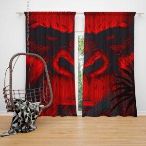 Kong Skull Island Movie Sci-fi Window Curtain
