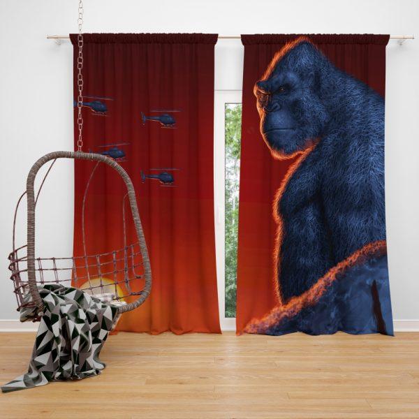 Kong Skull Island Movie Window Curtain