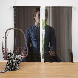 Lady Macbeth Movie Florence Pugh Window Curtain