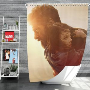 Logan Movie Dafne Keen Hugh Jackman Laura Kinney Marvel Comics Shower Curtain