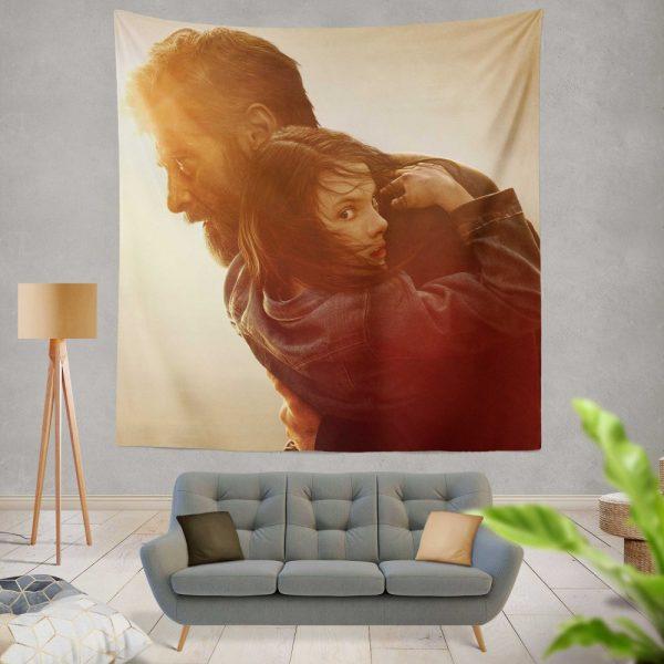 Logan Movie Dafne Keen Hugh Jackman Laura Kinney Marvel Comics Wall Hanging Tapestry