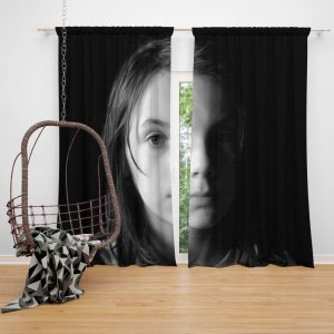 Logan Movie Dafne Keen Laura Kinney X-23 Window Curtain