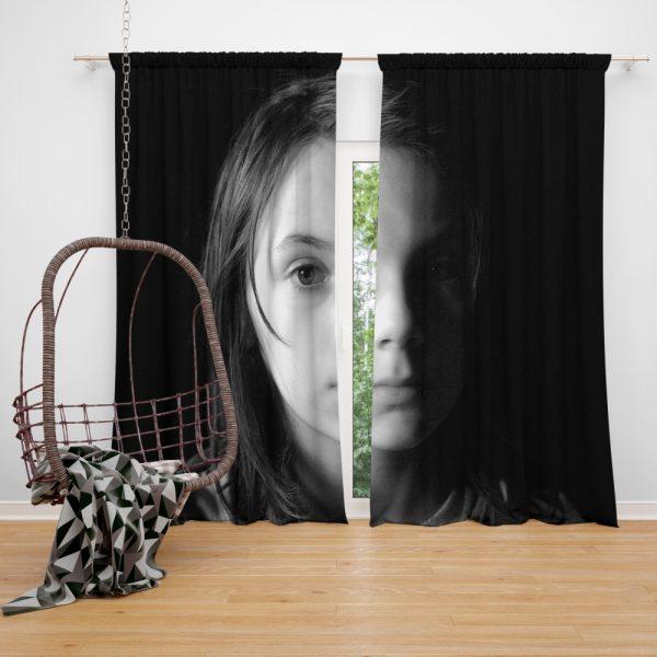 Logan Movie Dafne Keen Laura Kinney X-23 Window Curtain